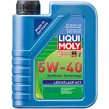 liqui moly leichtlauf hc 7 5w 40 cf sn acea a3 b4 bmw. Black Bedroom Furniture Sets. Home Design Ideas