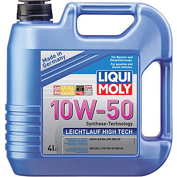 liqui moly leichtlauf high tech 10w 50 sm cf a3 b4 mb. Black Bedroom Furniture Sets. Home Design Ideas