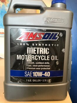 Amsoil Synthetic Metric Motorcycle Oil 10W-40 photo1.jpeg
